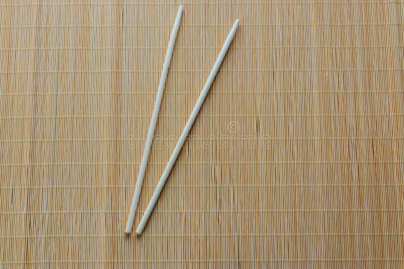 Drewniany suszi wtyka, tradycyjny cutlery od wschodu fotografia royalty free
