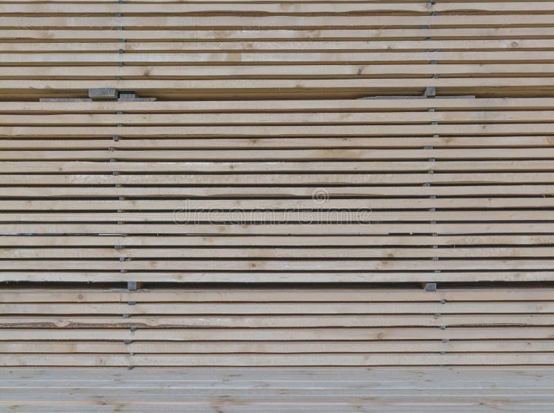 Drewniany szalunek w tartaku obraz royalty free