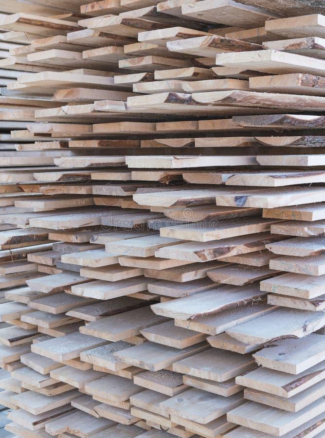 Drewniany szalunek w tartaku fotografia royalty free