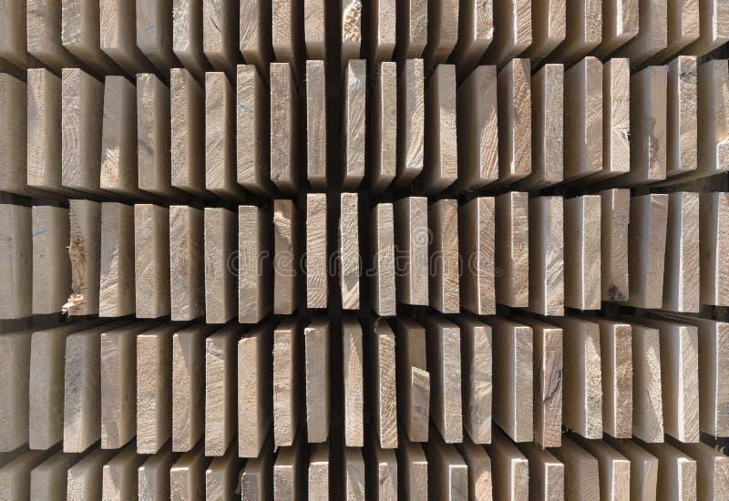 Drewniany szalunek w tartaku zdjęcie stock
