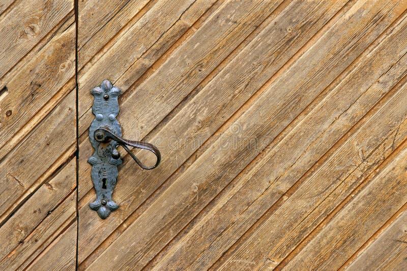 drewniany tła drzwi fotografia stock