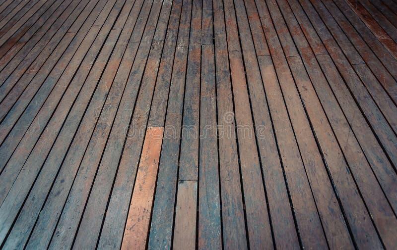 Drewniany tło, perspektywiczna drewniana podłoga Rocznika brzmienie obrazy royalty free