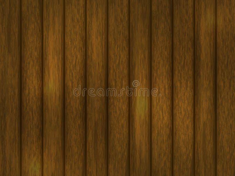 Drewniany tło Realistyczna drewniana tekstura brąz ilustracja wektor