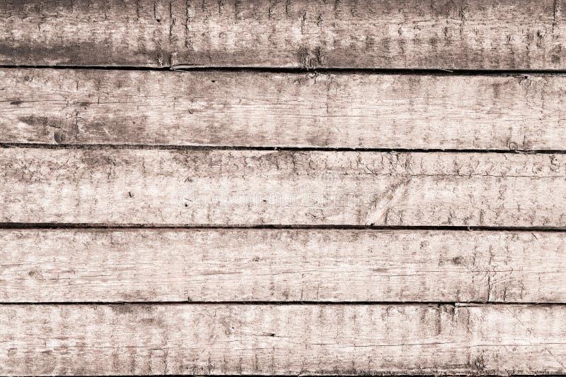 Drewniany tło stare podławe rocznik deski Popielaty drewniany panel horyzontalne deski zdjęcie stock