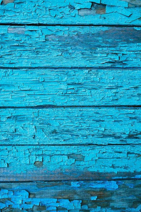 Drewniany tło zmrok - błękitny kolor, drewniana tekstura, stara malująca ściana wykłada zdjęcie stock