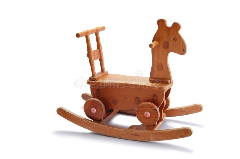 Drewniany TARGET1214_0_ Koń obraz stock
