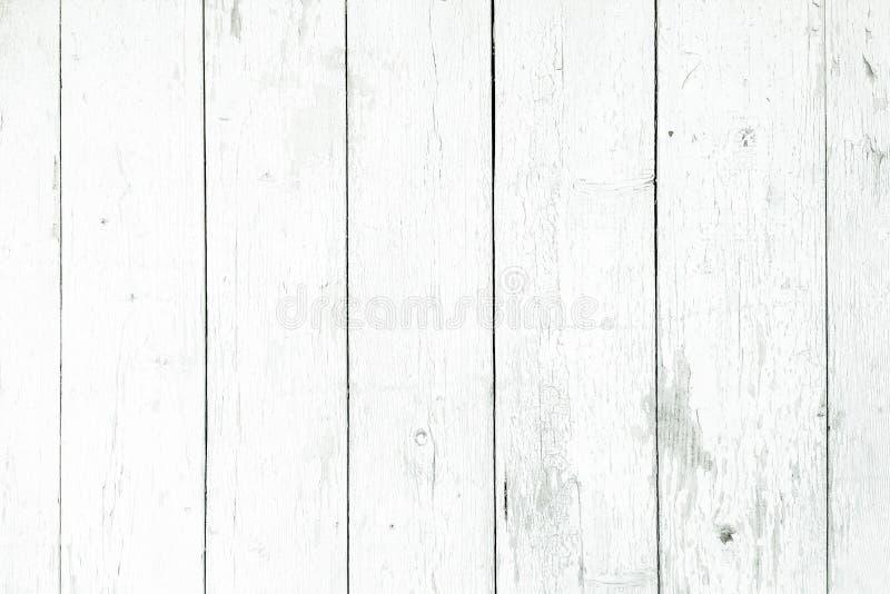 Drewniany tekstury tło, białe drewno deski Grunge myjący drewno ściany wzór zdjęcia stock