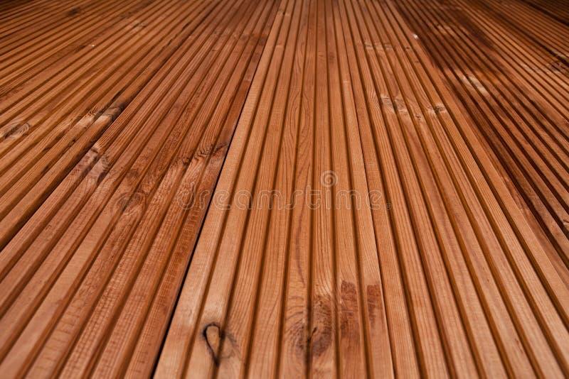 Drewniany tekstury tło - tarasowa podłoga zdjęcie stock