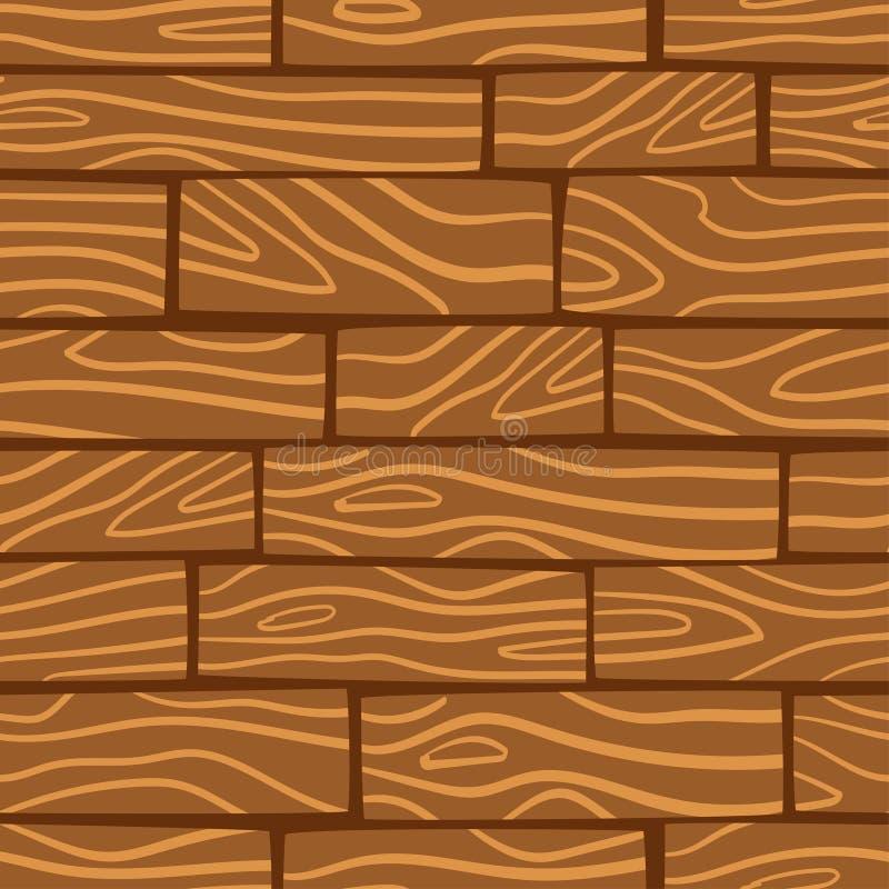 Drewniany tekstury tło wektor bezszwowy wzoru royalty ilustracja