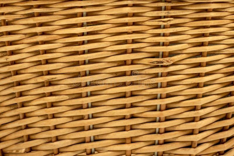 Drewniany textured lub koszykowy tło Wyplata deseniowego robić od drewnianego materiału fotografia royalty free