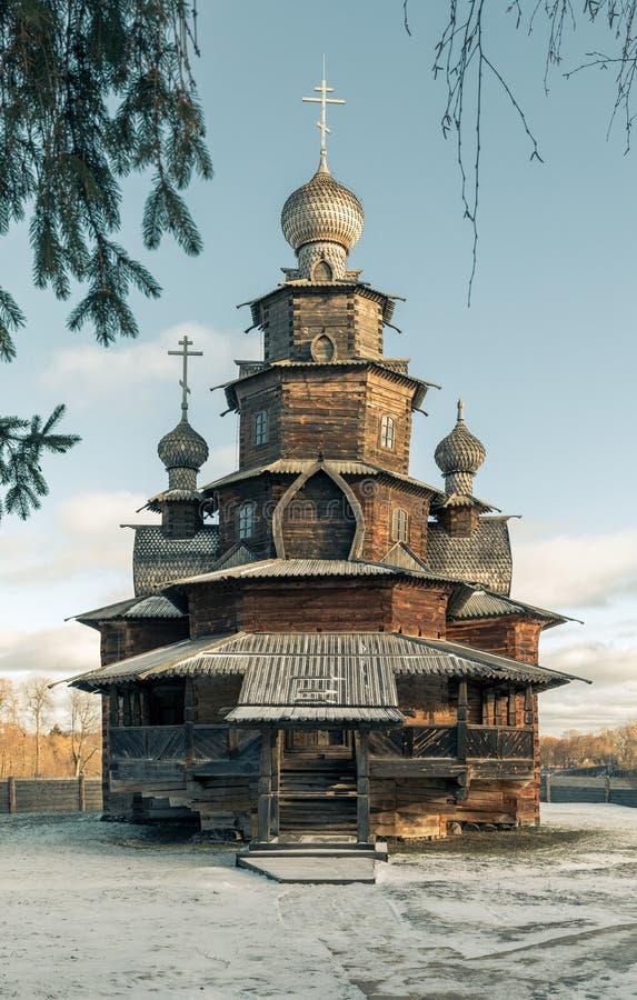 Drewniany transfiguracja kościół Suzdal Rosja zdjęcia royalty free