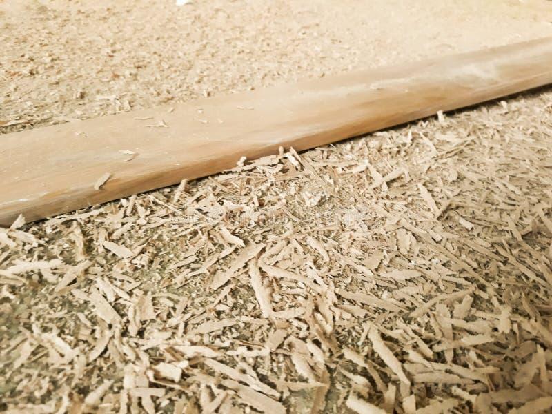 Drewniany Trocinowy tekstury tło na podłodze zdjęcie stock