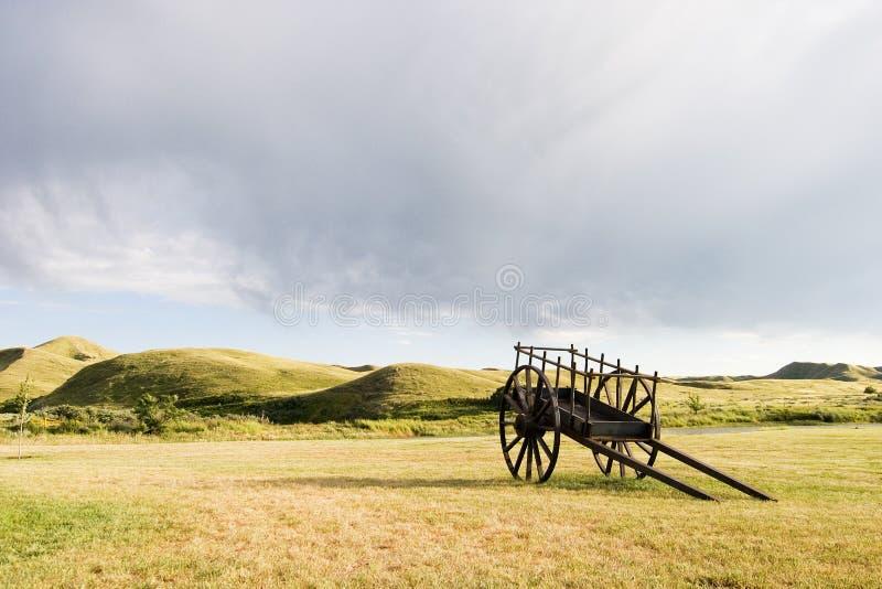 drewniany wózków zdjęcia royalty free