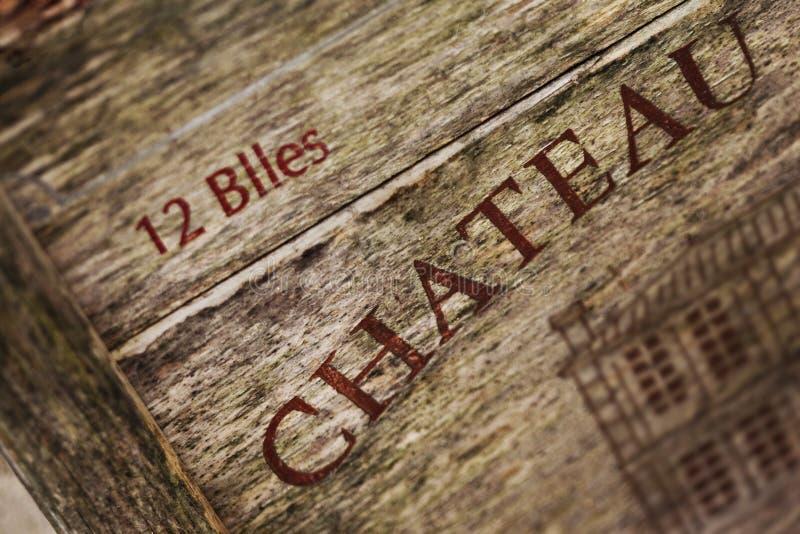 Drewniany wina pudełko obrazy stock