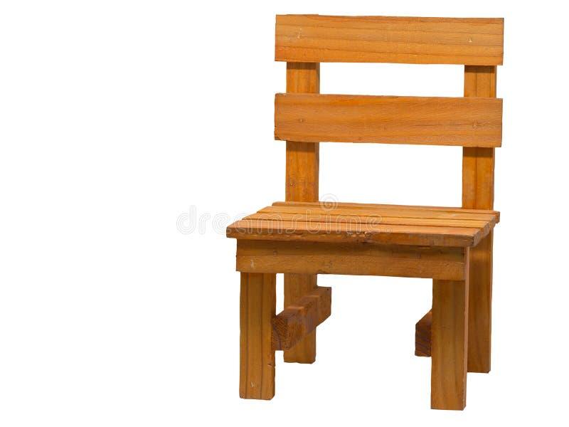 Drewniany wygodny krzesło zdjęcia royalty free
