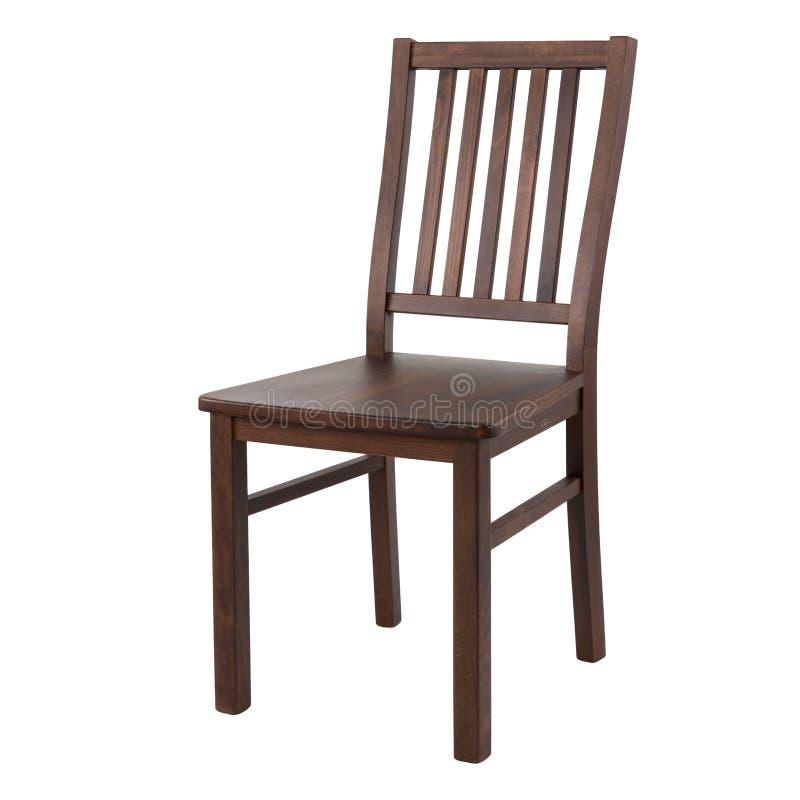 Drewniany wygodny krzesło odizolowywający na białym tle obraz royalty free