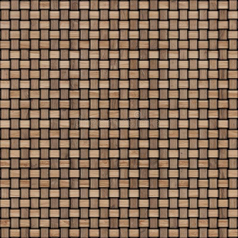 Drewniany wyplata tekstury tło abstrakcjonistycznego tła koszykowego dekoracyjnego ilustraci wzoru bezszwowy wektorowy tkactwo dr ilustracji