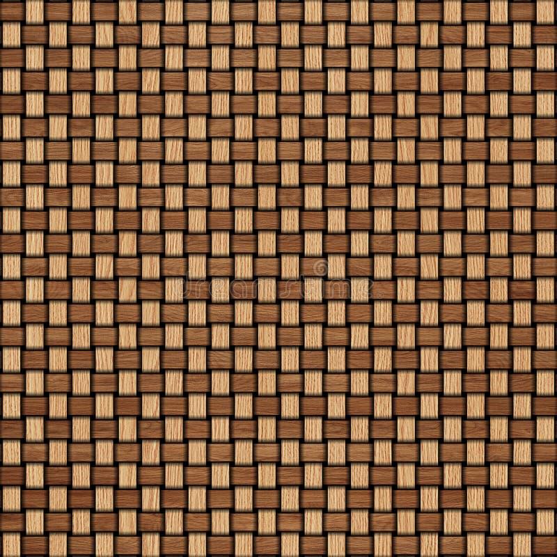 Drewniany wyplata tekstury tło abstrakcjonistycznego tła koszykowego dekoracyjnego ilustraci wzoru bezszwowy wektorowy tkactwo dr royalty ilustracja
