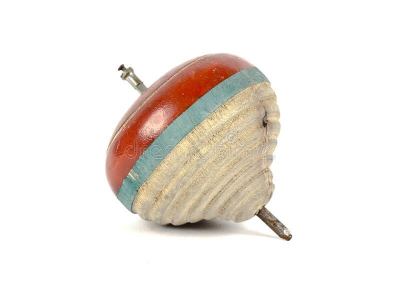 Drewniany zabawka wierzchołek zdjęcia stock