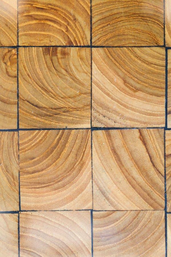 Drewnianych bloków bruku tekstura Abstrakcjonistyczny naturalny drewniany tło obrazy stock