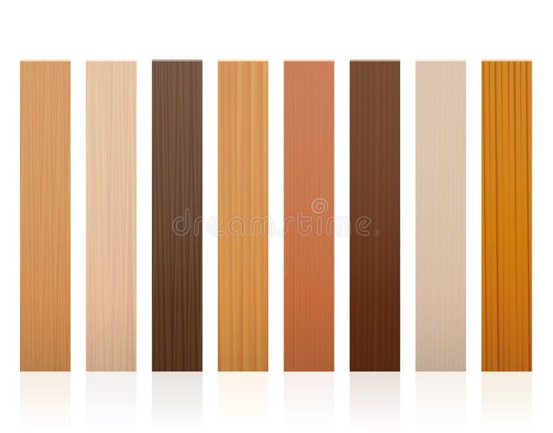 Drewnianych deseczek kolorów Różne tekstury ilustracja wektor