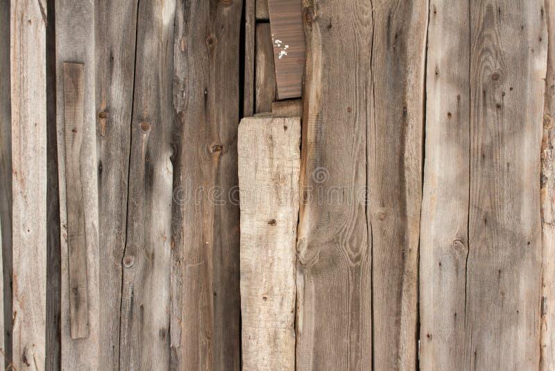 Drewnianych desek tekstura z śladami stara kratownica zdjęcie royalty free
