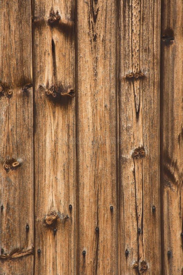 Drewnianych starych desek płotowy tło fotografia royalty free