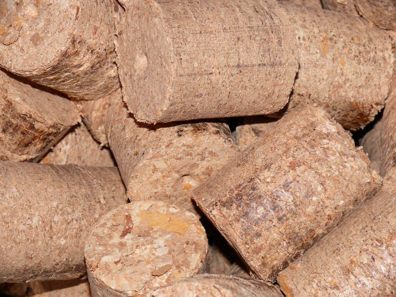 Drewno briquets fotografia stock