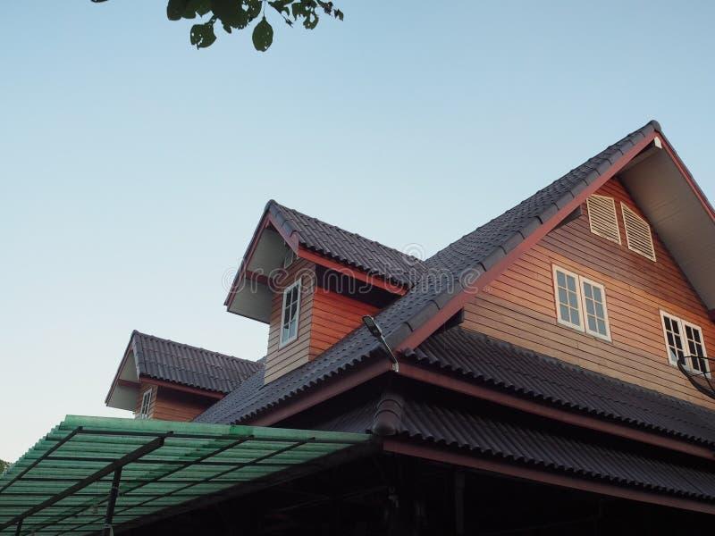 Drewno dach obrazy stock