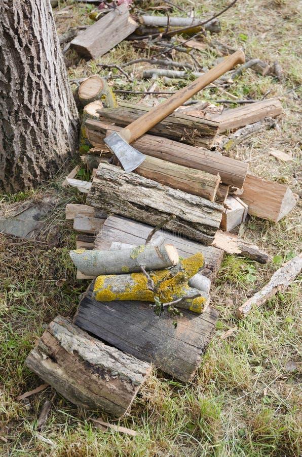 Drewno dla ogienia obraz stock