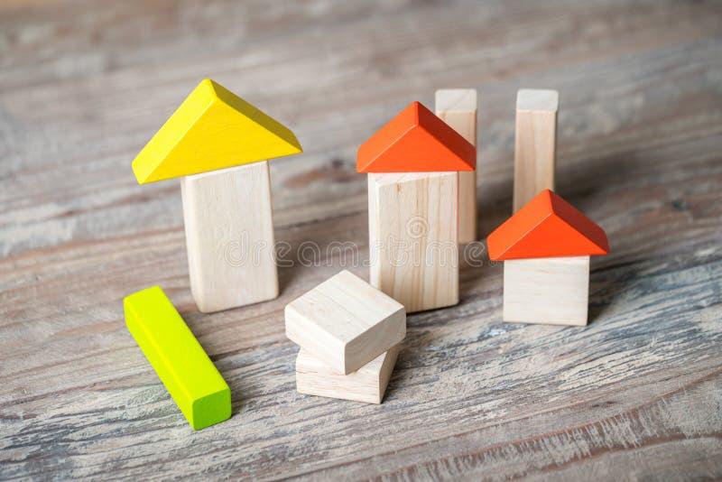 Drewno Domowej & lokalowej nieruchomości pojęcie fotografia stock