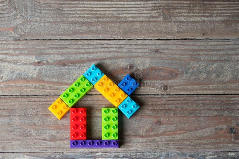 Drewno Domowej & lokalowej nieruchomości pojęcie zdjęcia stock