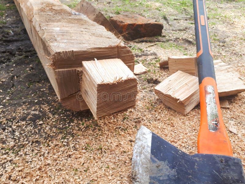 Drewno i trociny obraz stock