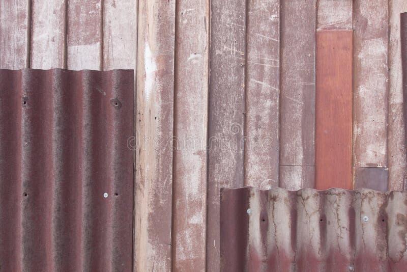 Drewno i Zink obrazy stock