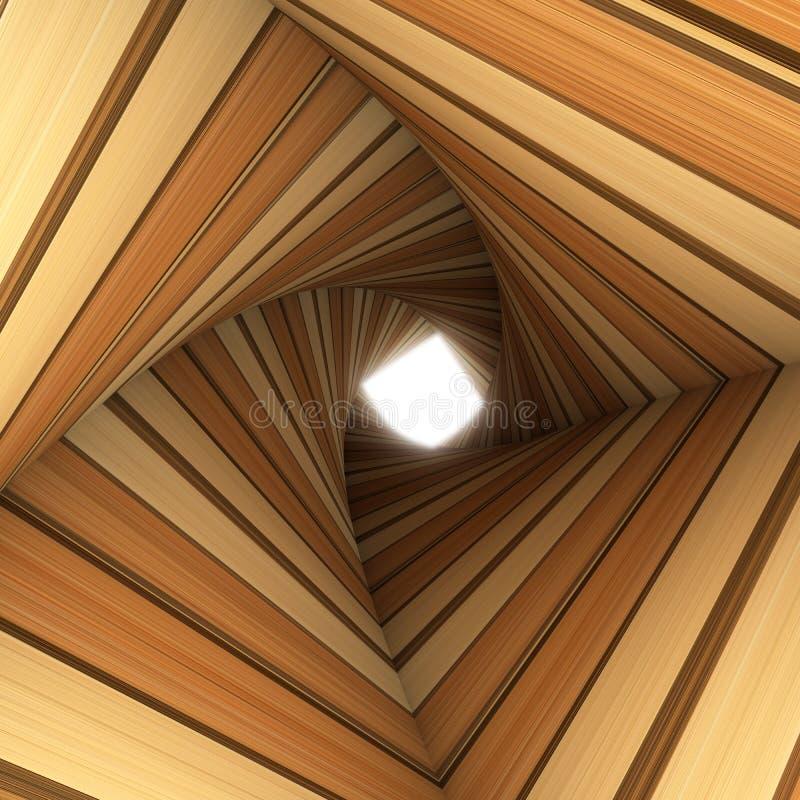 Drewno kręcony tunel royalty ilustracja