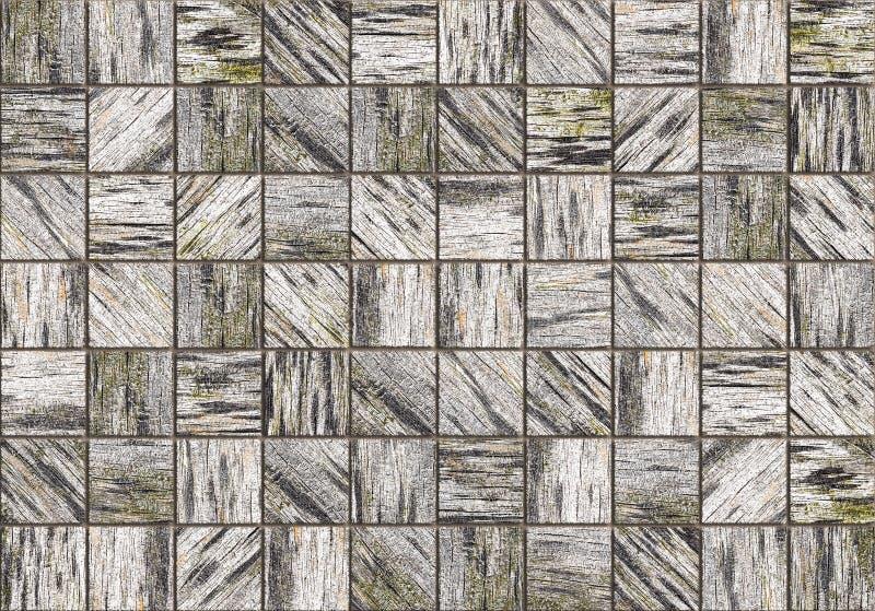 Drewno płytki wzoru tło ilustracja wektor