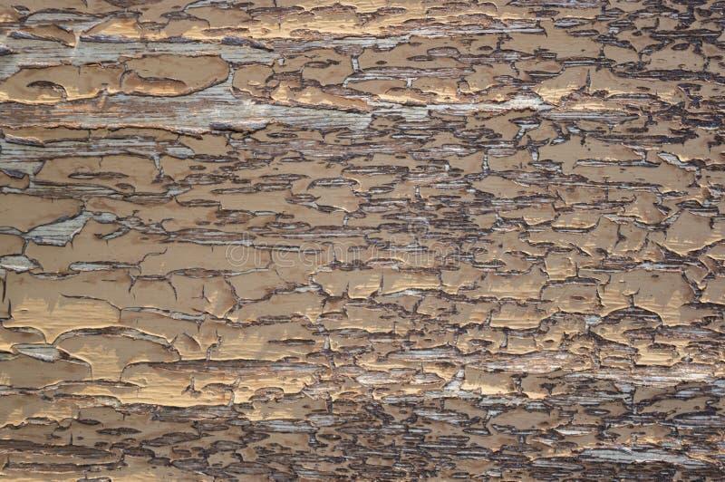 Drewno powierzchnia z krakingową farbą 2 obrazy royalty free