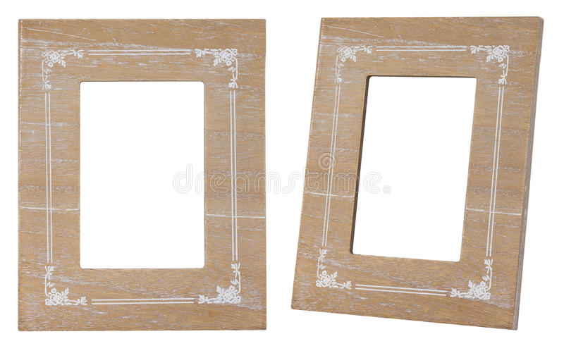 Drewno rocznika ramowy styl odizolowywający zdjęcia royalty free