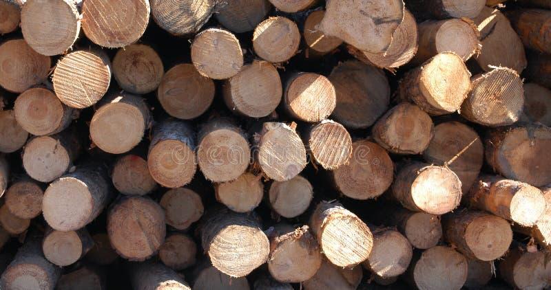 Drewno Stos Bezpłatna Fotografia Stock