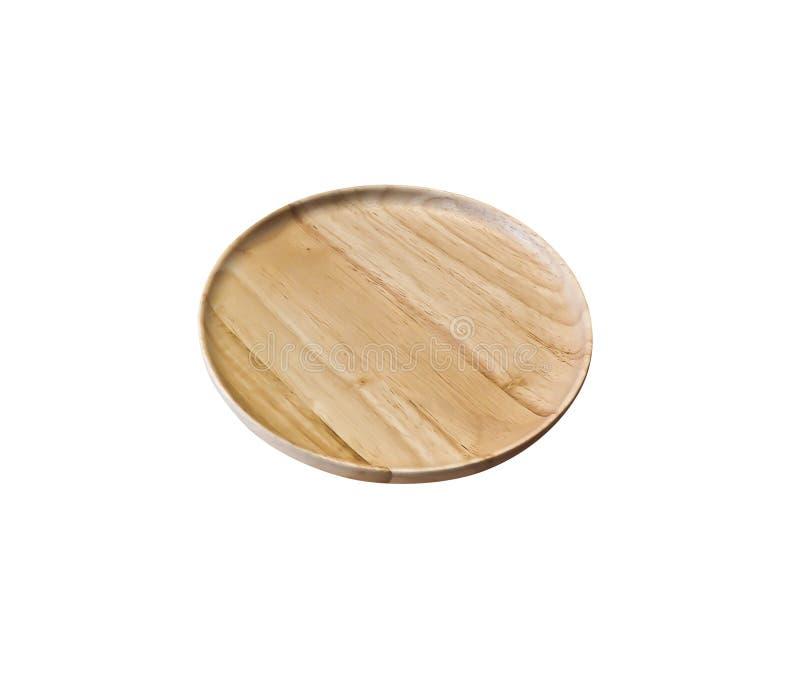 Drewno talerz fotografia stock