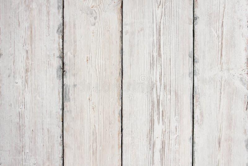 Drewno Zaszaluje teksturę, Biały Drewniany Stołowy tło, podłoga zdjęcia stock