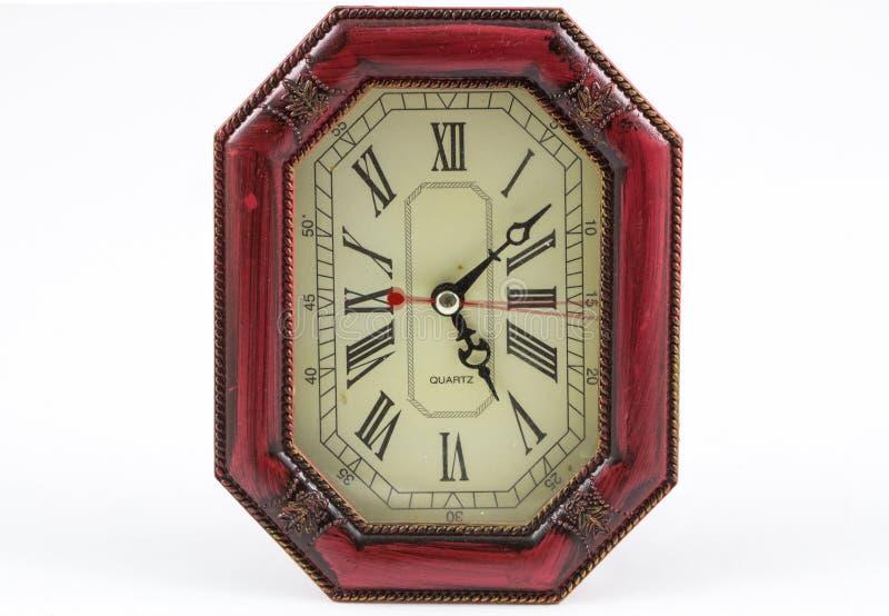 Drewno zegarowy ośmioboczny kształt fotografia stock