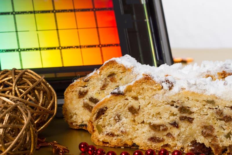 Drezdeńscy boże narodzenia tort i Reticle fotografia stock