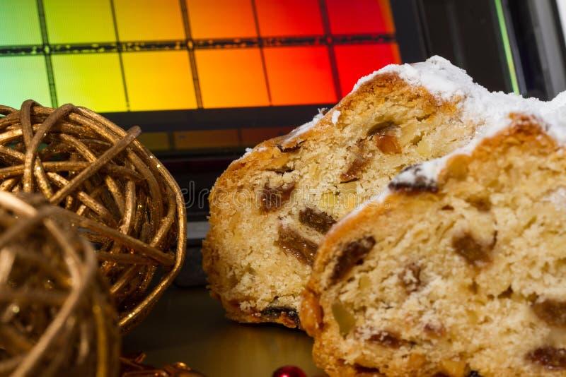 Drezdeńscy boże narodzenia tort i Reticle zdjęcie stock