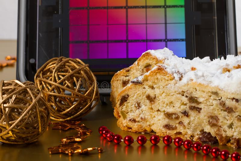 Drezdeńscy boże narodzenia tort i Reticle obrazy stock