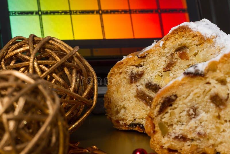Drezdeńscy boże narodzenia tort i Reticle zdjęcie royalty free
