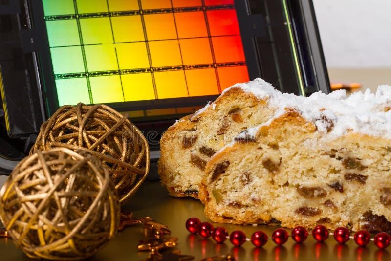 Drezdeńscy boże narodzenia tort i Reticle obraz stock