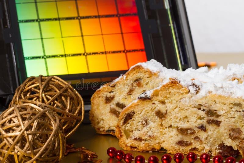 Drezdeńscy boże narodzenia tort i Reticle obrazy royalty free