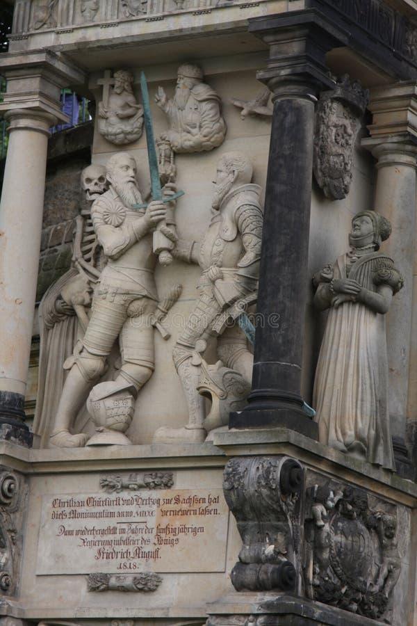 Drezdeński: mogą 2 2017 - Drezdeński, Niemcy Frauenkirche kościół Nasz dama Średniowieczny miasta, dziejowego i kulturalnego cent fotografia stock