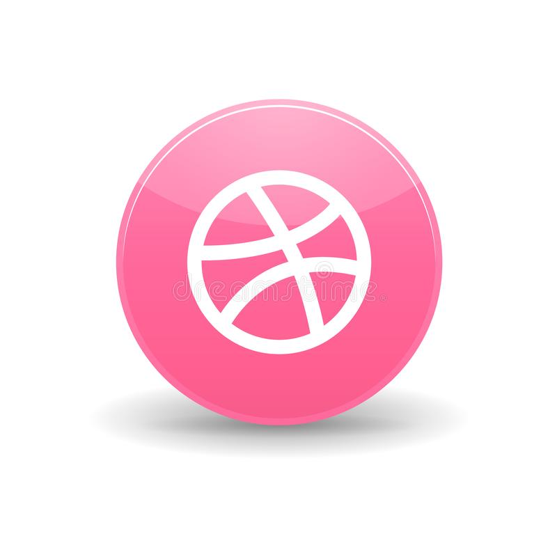 Dribbble icon, simple style. Dribbble icon in simple style on a white background royalty free illustration